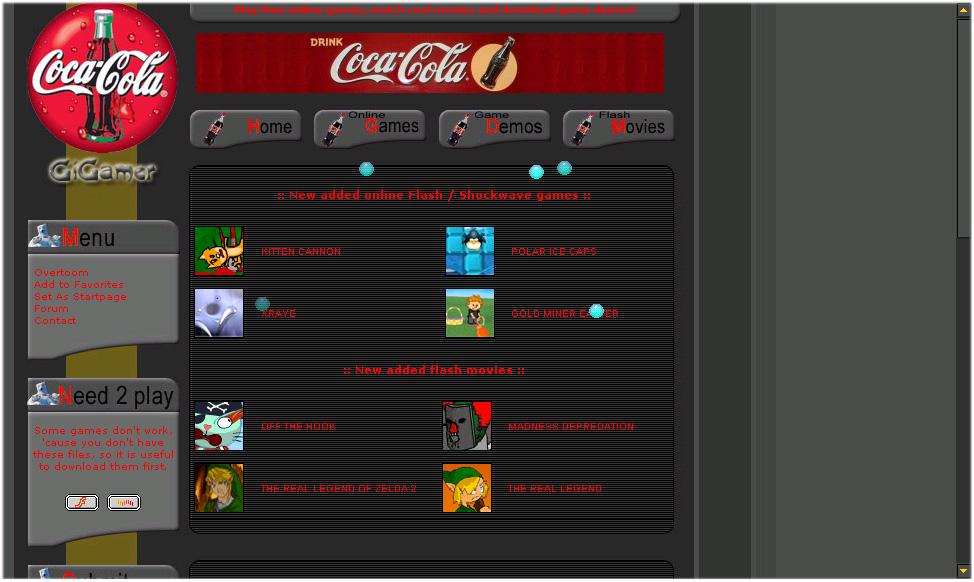 GiGamer homepage screenshot 2