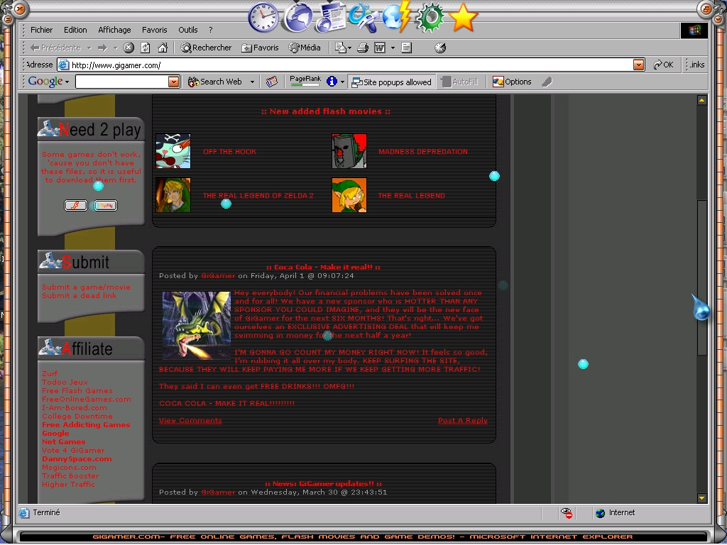 GiGamer homepage screenshot 3